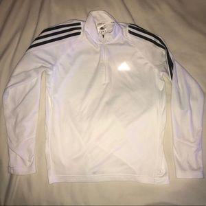 White/Black Light Adidas Track Zip-Up